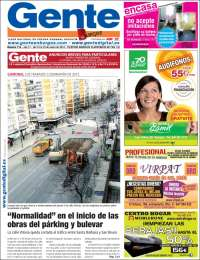 Portada de Gente en Burgos (España)