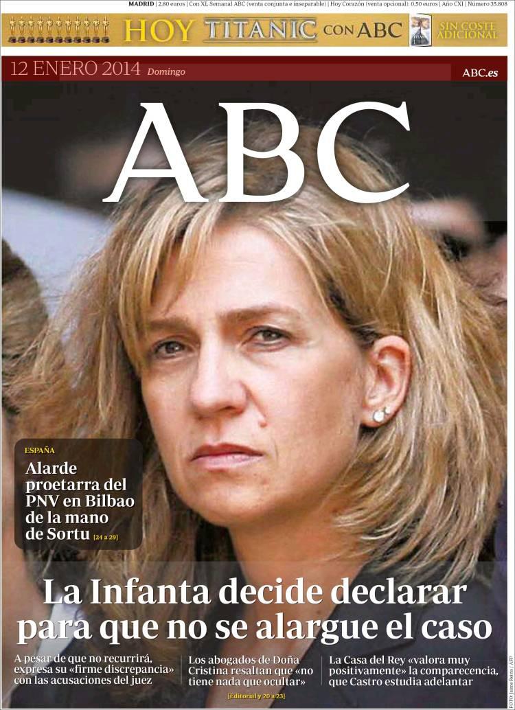 Peridico ABC Espaa Peridicos De Espaa Edicin De Domingo 12