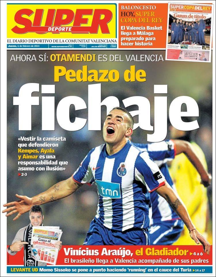 Periódico Superdeporte (España). Periódicos de España. Edición de jueves, 6 de febrero de 2014 ...