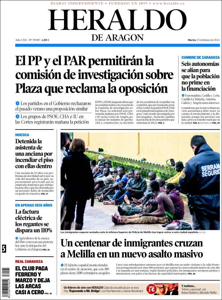 Periódico Heraldo de Aragón (España). Periódicos de España ...