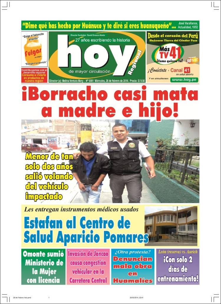 Peri dico hoy per per peri dicos de per edici n de for Noticias farandula argentina hoy