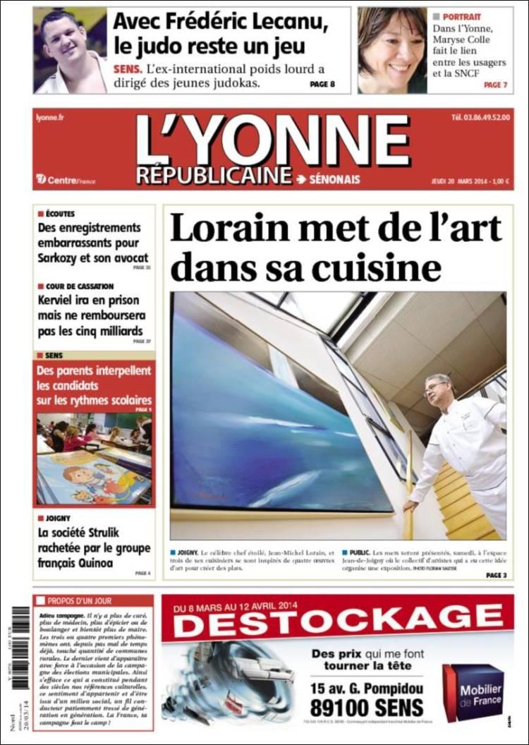 Portada de L'Yonne-Républicaine (Francia)