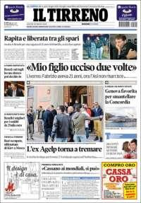 Portada de Il Tirreno (Italia)