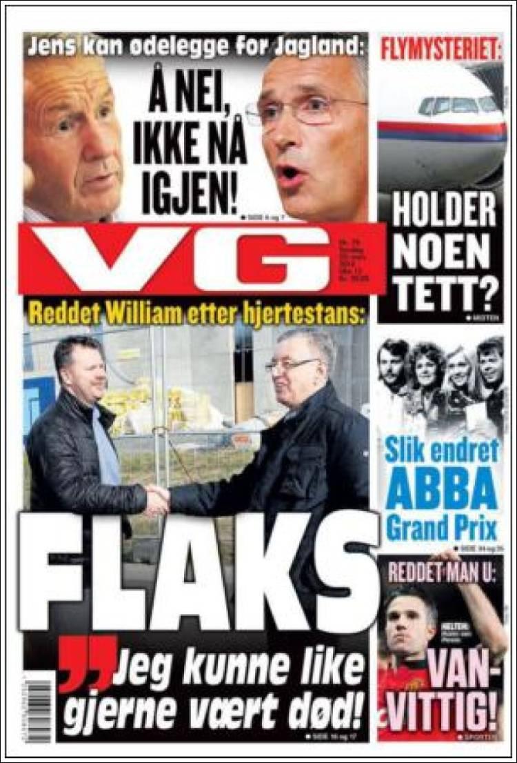 Portada de VG (Noruega)