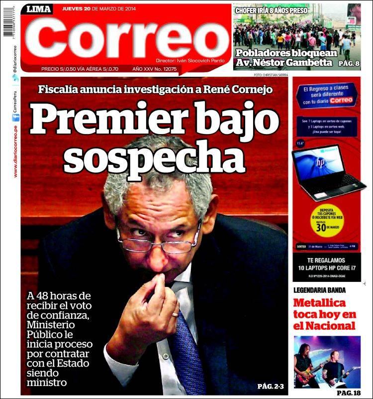 Portada de Diario Correo (Perú)