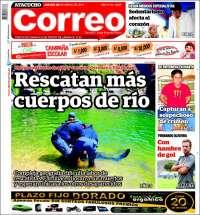 Portada de Diario Correo - Ayacucho (Perú)