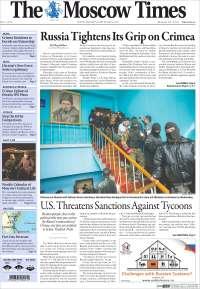 Portada de The Moscow Times (Rusia)