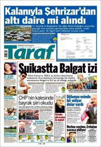 Portada de Taraf  (Turquía)