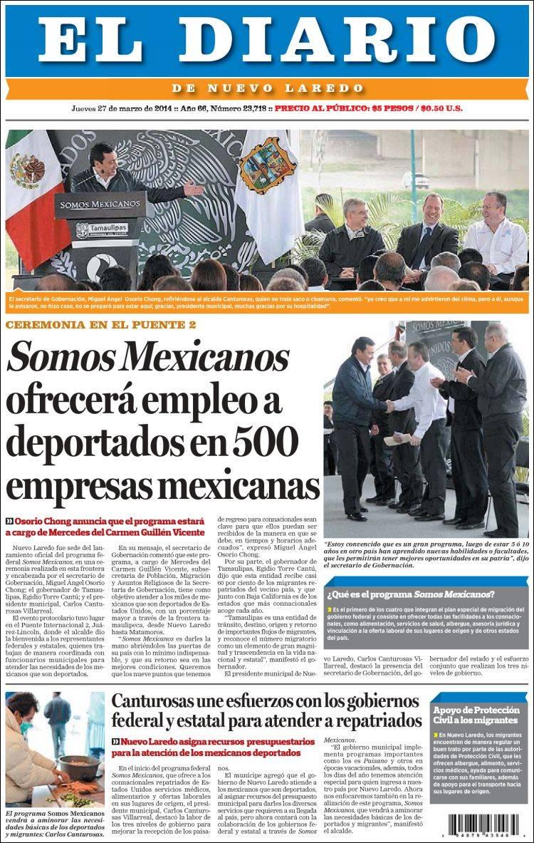 Periódico El Diario de Nuevo Laredo (México)  Periódicos de