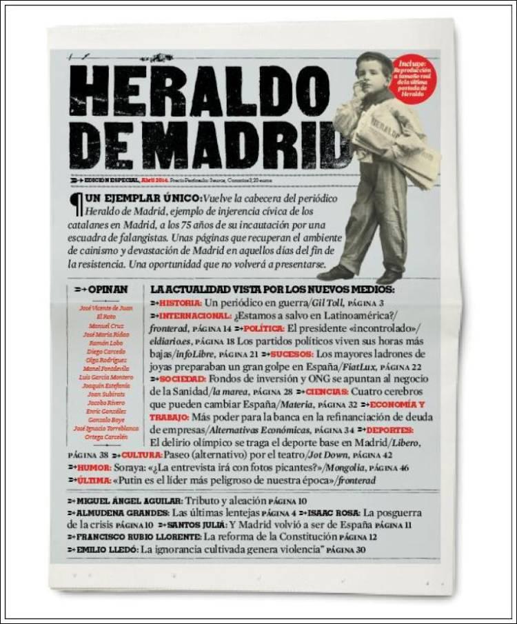 Peri dico el heraldo de madrid espa a peri dicos de espa a toda la prensa de hoy - Puerta de madrid periodico ...