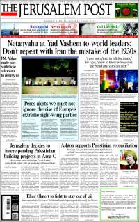 Portada de The Jerusalem Post (Israel)