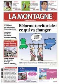 Journal la montagne france les unes des journaux de france dition du mer - Le journal la montagne ...