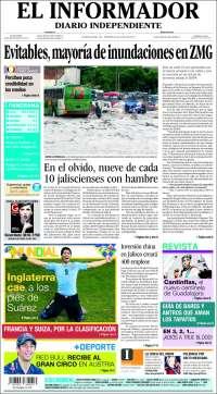 Portada de El Informador (México)