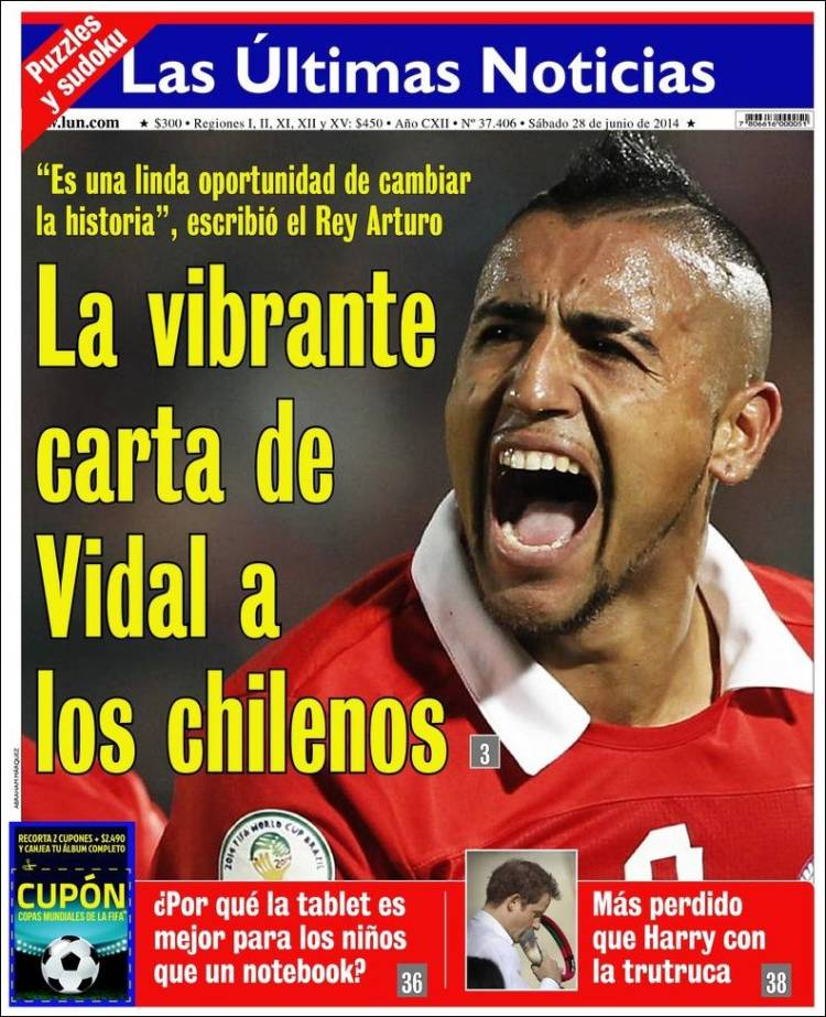 Peri dico las ltimas noticias chile peri dicos de for Noticias del espectaculo del dia de hoy