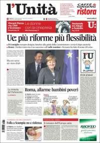 Portada de l'Unità (Italia)