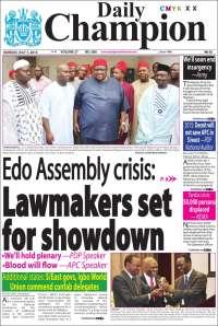 Portada de Daily Champion (Nigeria)