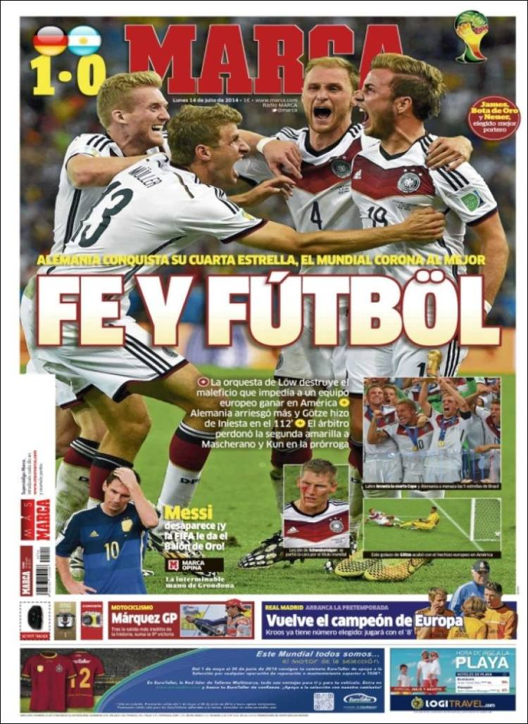 Обложки мировых газет после финала