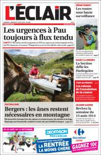 Portada de L'Eclair des Pyrénées (Francia)
