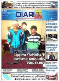 Portada de El Diario del Cusco (Peru)