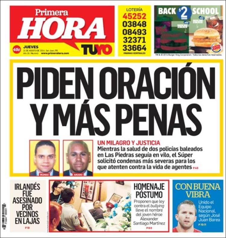 Portada de Primera Hora (Puerto Rico)