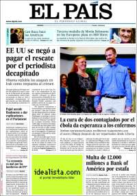 Portada de El País (Spain)