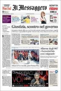 Portada de Il Messaggero (Italia)
