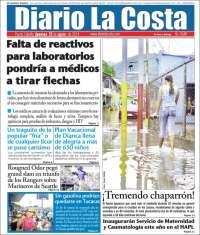 Portada de Diario La Costa (Venezuela)