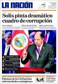 Portada de La Nación - Costa Rica (Costa Rica)