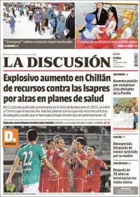 Portada de La Discusion (Chile)