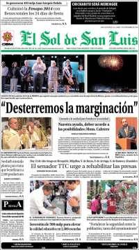Portada de El Sol de San Luis (Mexico)