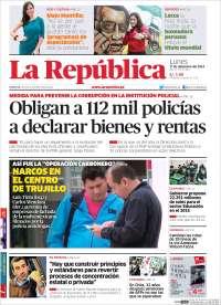 Portada de La Republica (Perú)