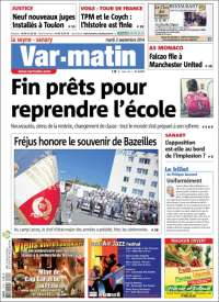 Portada de Var-Matin (Francia)
