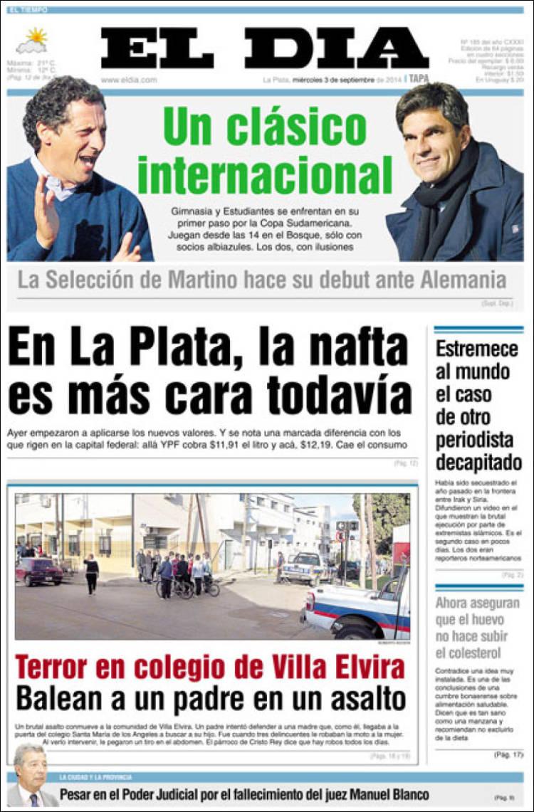 Portada de El Día de la Plata (Argentina)