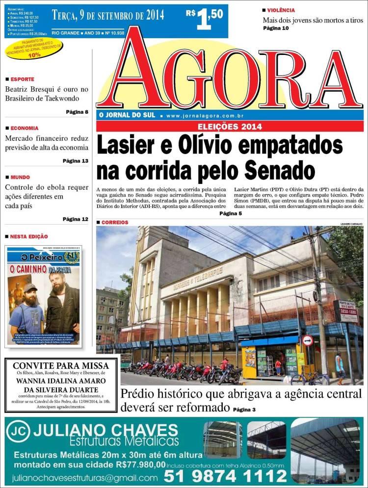 Portada de Jornal Agora (Brasil)