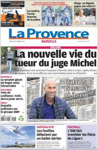 Portada de La Provence (Francia)