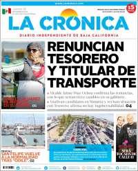 Portada de La Crónica de Baja California (México)