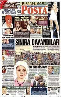 Portada de Posta Gazetesi (Turkey)