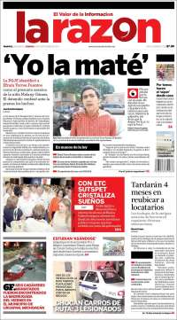 Portada de La Razón - Tampico (México)