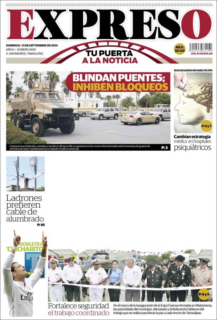 Portada de Expreso de Matamoros (Mexico)