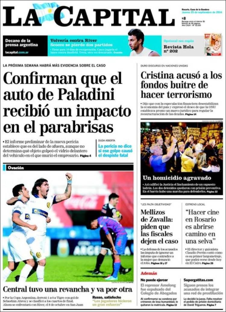 Periódico La Capital - Rosario (Argentina). Periódicos de Argentina ...