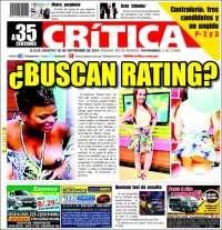 Portada de La Crítica Libre (Panamá)