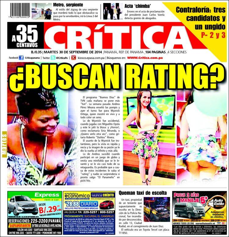Periódico La Crítica Libre Panamá Periódicos De Panamá Edición