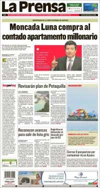 Portada de La Prensa (Panamá)