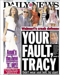 Portada de Daily News - New York (USA)
