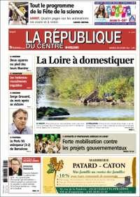 Portada de La République du Centre (Francia)