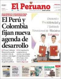 Portada de El Peruano (Peru)