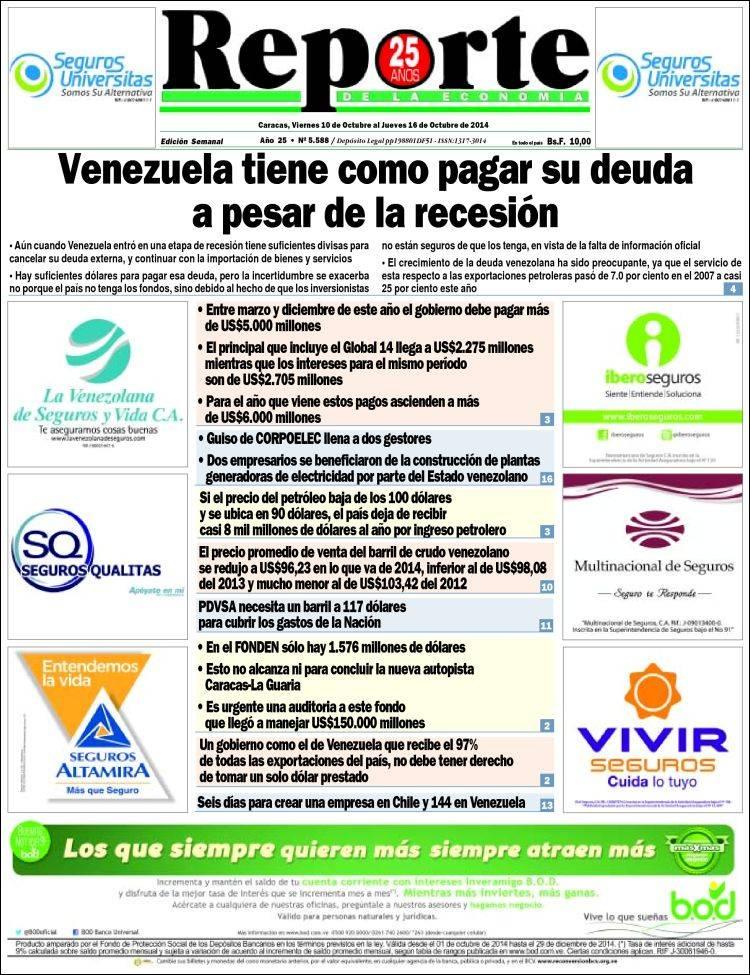 Portada de Reporte (Venezuela)