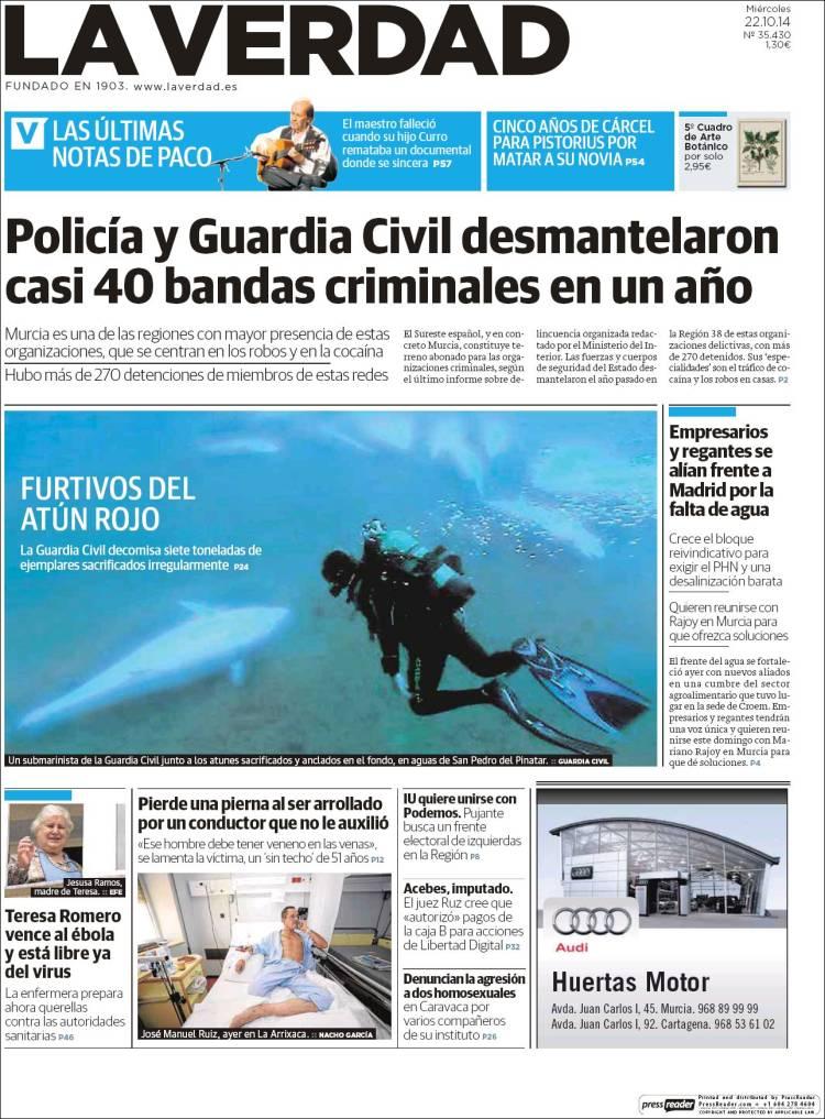 Portada de La Verdad de Murcia (Spain)
