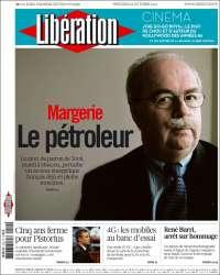 Portada de Libération (Francia)