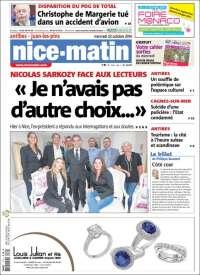 Portada de Nice-Matin (Francia)